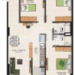Planta Típica Tipo c (84.83 m2) Alaska Apartamentos