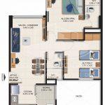 Planta Típica Tipo D (59.89 m2) Alaska Apartamentos